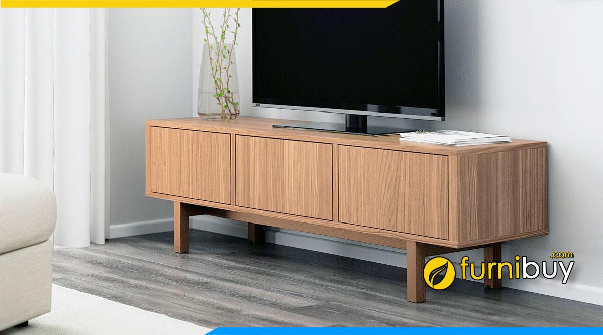 mẫu kệ tivi gỗ mdf phủ veneer ưu - nhược điểm