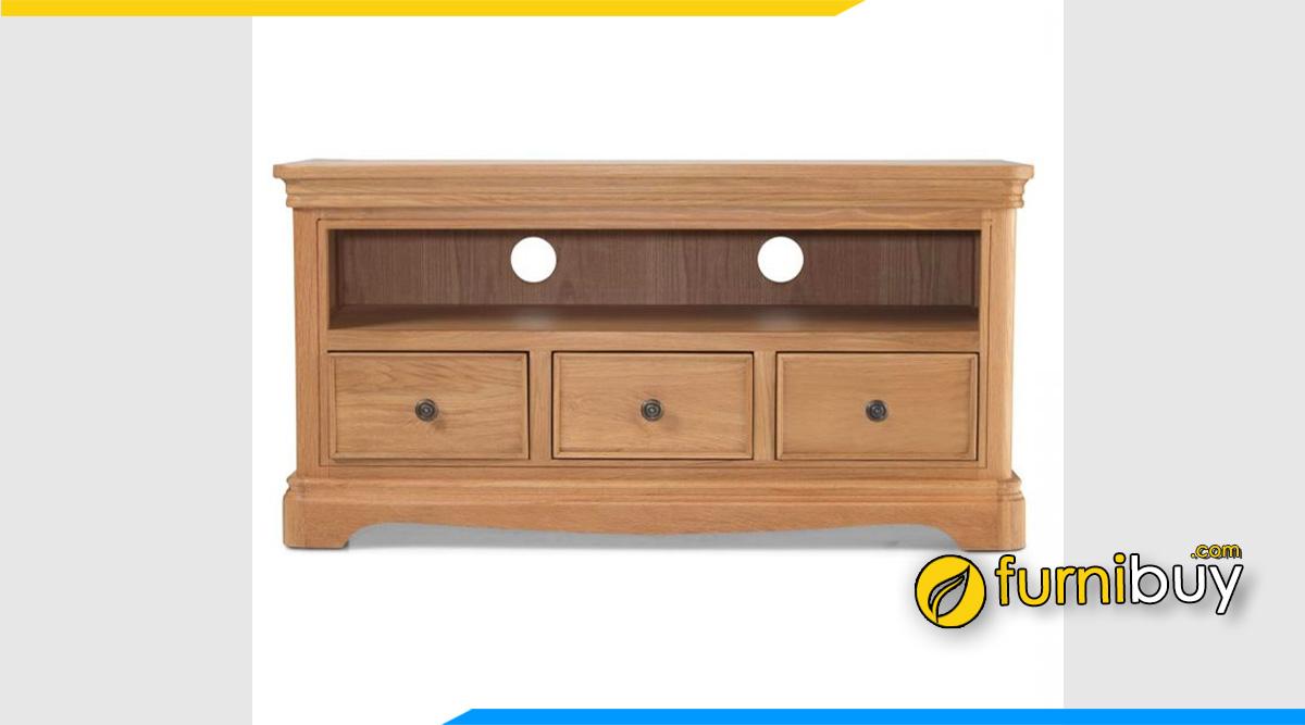 Hình ảnh Mẫu kệ tivi gỗ sồi 1m2 cho phòng ngủ nhỏ