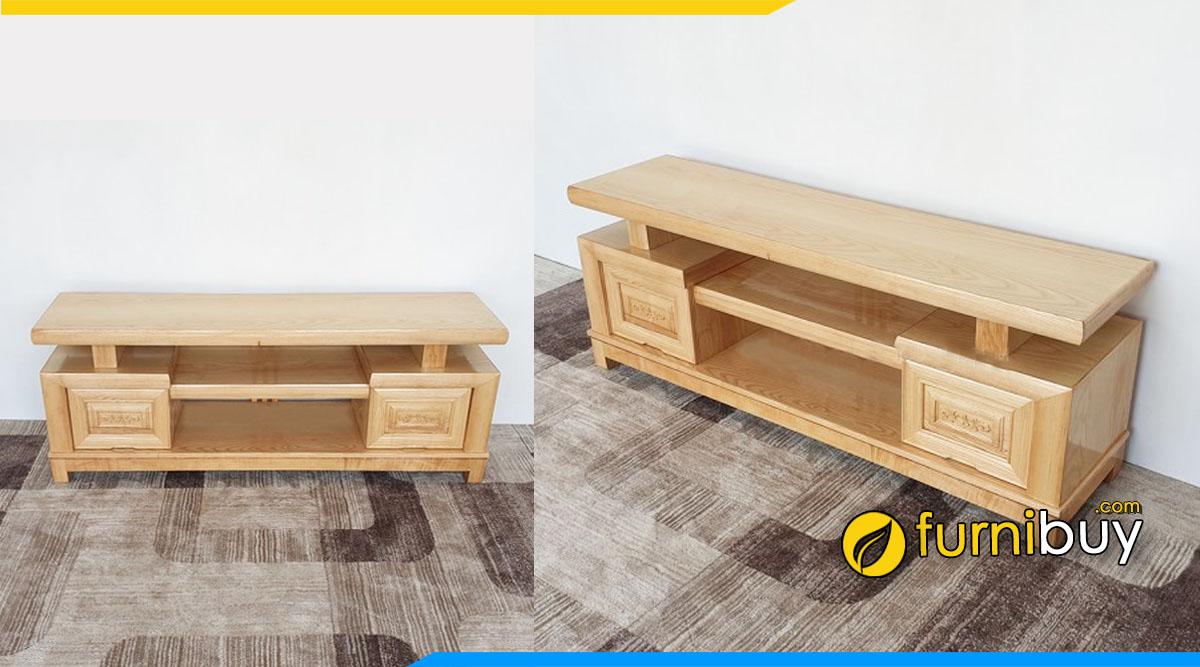 Mẫu kệ tivi gỗ sồi giá rẻ nhất thị trường