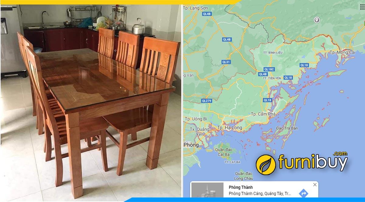 Mua bàn ăn gỗ xoan đào đẹp Quảng Ninh