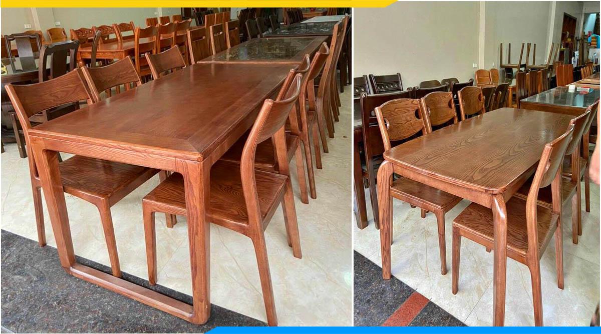 Nơi bán bàn ăn gỗ đẹp giá rẻ Hà Nội