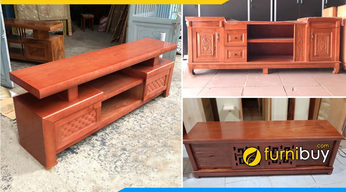 Cửa hàng bán kệ tivi gỗ xoan đào giá rẻ Hà Nội