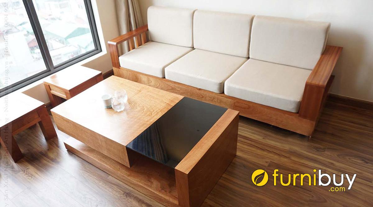 sofa gỗ nhỏ gọn mini hiện đại giá rẻ