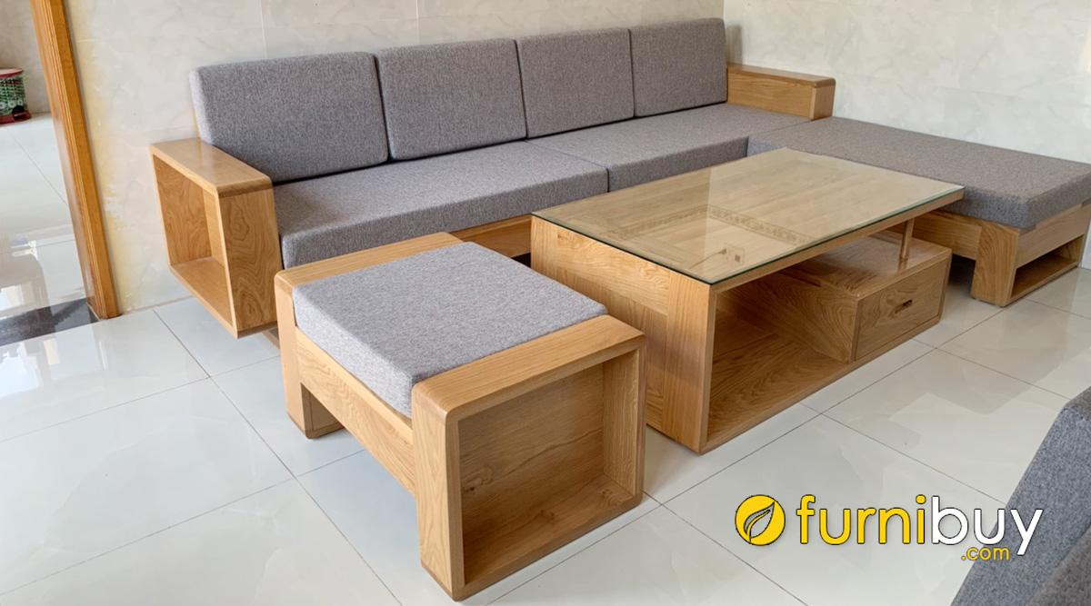 sofa gỗ sồi mỹ có tốt không mẫu nào đẹp
