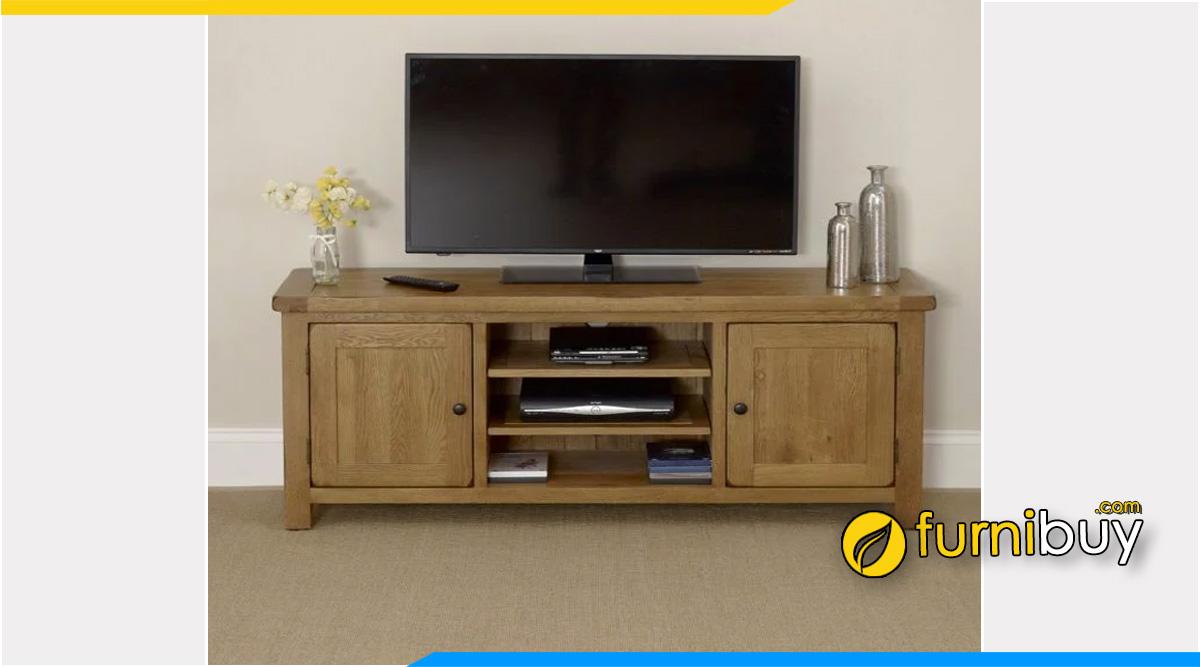 Hình ảnh Kệ tivi gỗ sồi Mỹ 1m8 phòng khách nhỏ đẹp