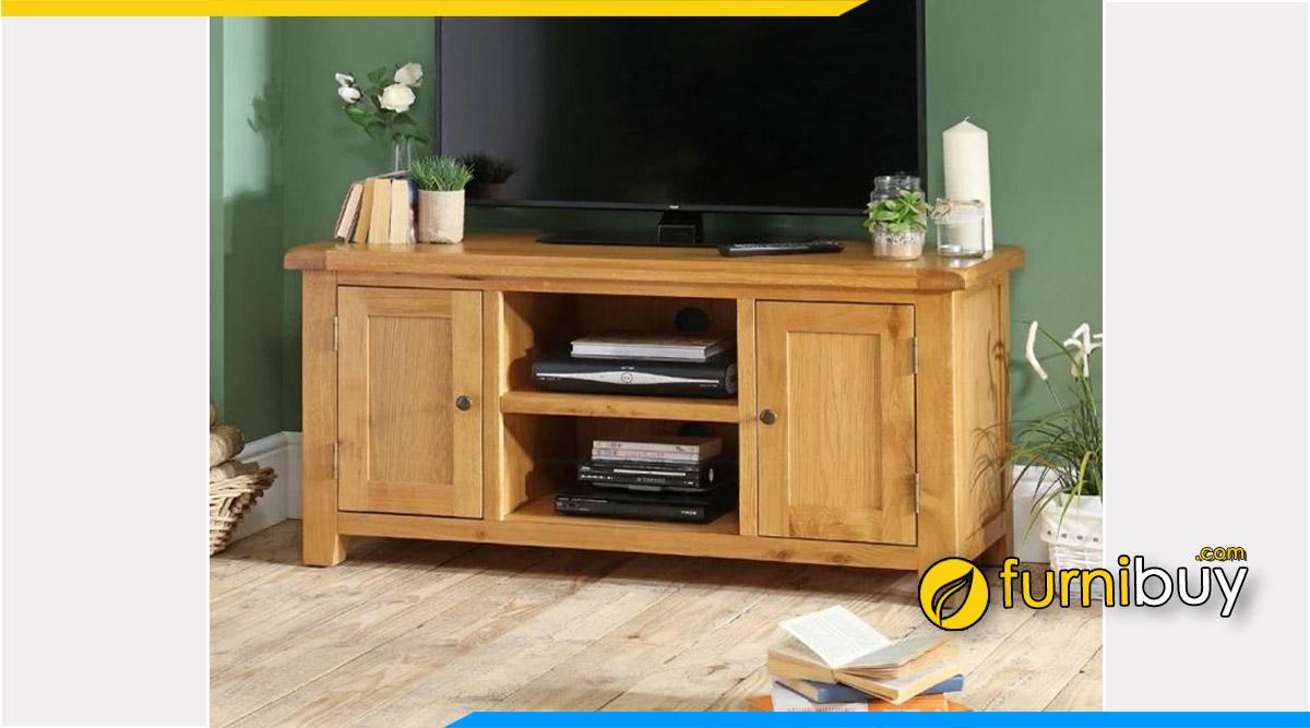hình ảnh Mẫu kệ tivi gỗ sồi Mỹ phòng ngủ hiện đại đẹp