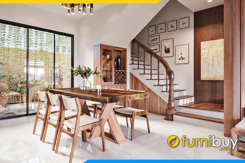 ảnh bộ bàn ăn 6 ghế gỗ óc có nguyên tâm Hà Nội