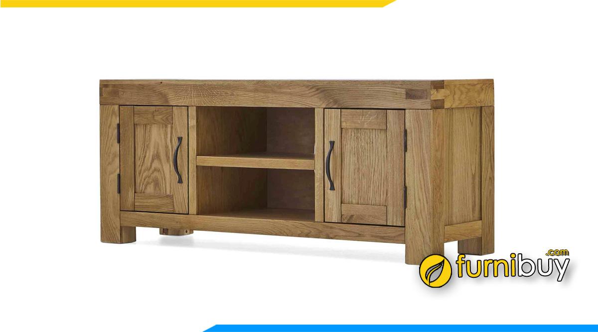 Hình ảnh Mẫu kệ tivi gỗ sồi Mỹ phòng khách đẹp