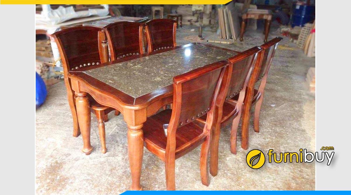 Hình ảnh bộ bàn ăn 6 ghế cao cấp đẹp