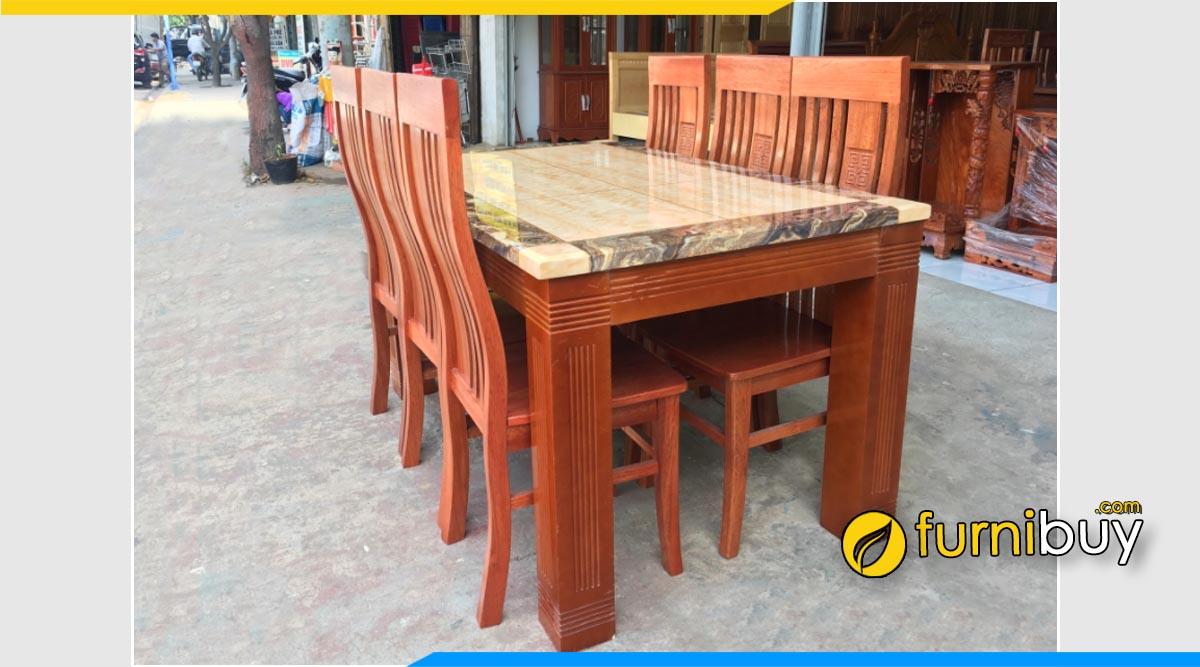 Hình ảnh bộ bàn ghế ăn gỗ tự nhiên bền đẹp