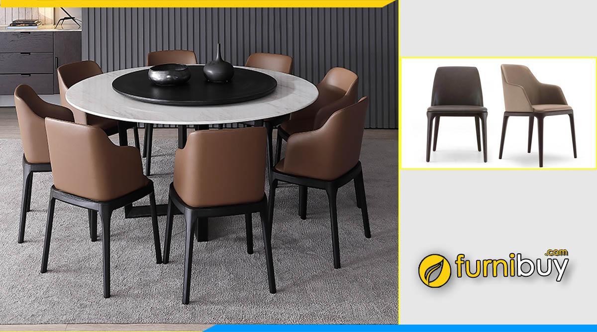 ảnh bộ bàn ăn tròn 8 ghế đẹp mua tại furnibuy