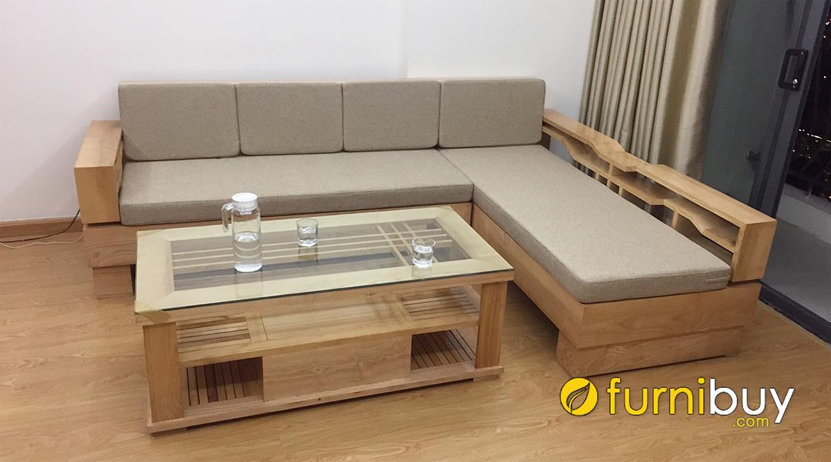 các mẫu sofa gỗ chữ L đẹp giá rẻ tại hà nội