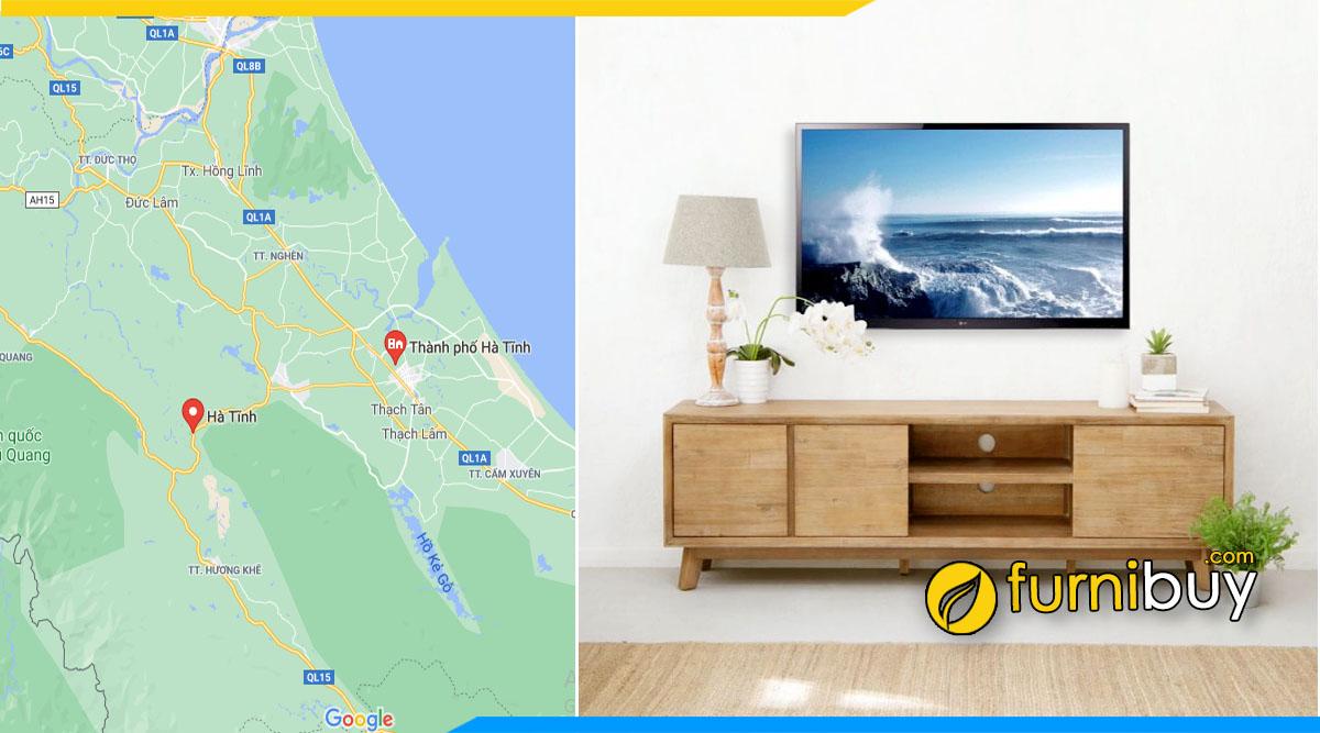 Các nơi bán kệ tivi gỗ tại Hà Tĩnh Furnibuy