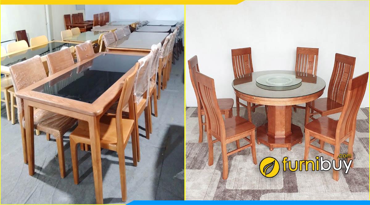 Cửa hàng bán bàn ăn tròn giá rẻ Hà Nội furnibuy