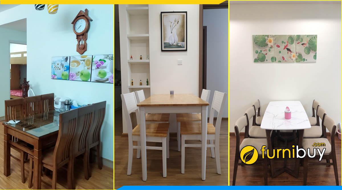 Cửa hàng bán bàn ghế ăn gỗ sồi giá rẻ Gia Lâm