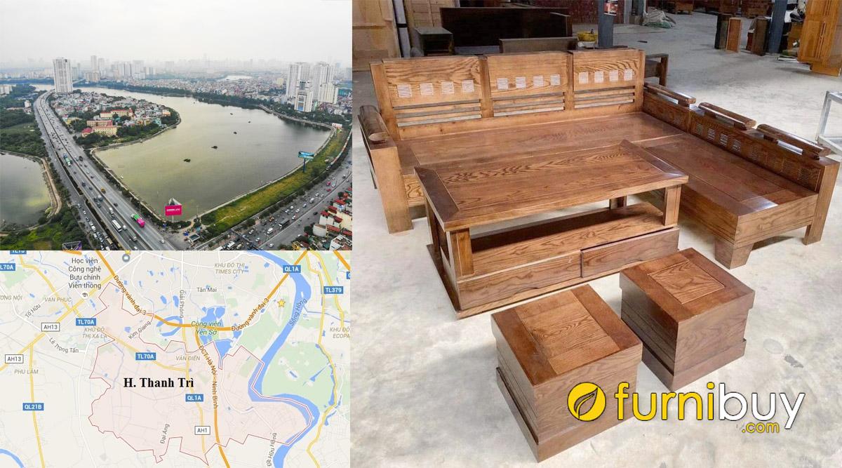 cửa hàng bán sofa gỗ đẹp giá rẻ huyện Thanh Trì Hà Nội