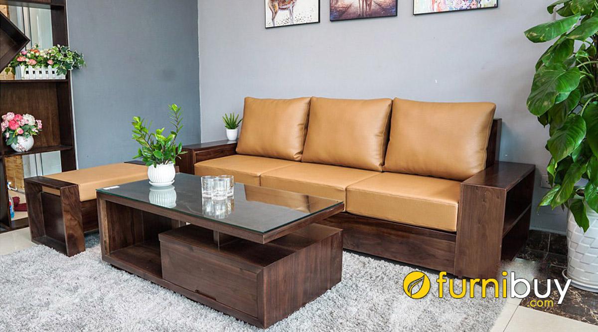 đóng bàn ghế sofa gỗ óc chó làm theo yêu cầu giá tại xưởng