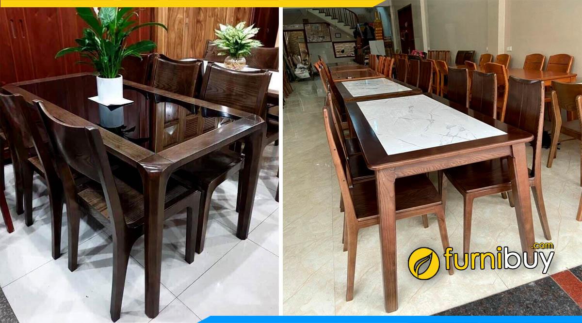 Địa chỉ bán bàn ghế ăn gỗ giá rẻ Thạch Thất Furnibuy