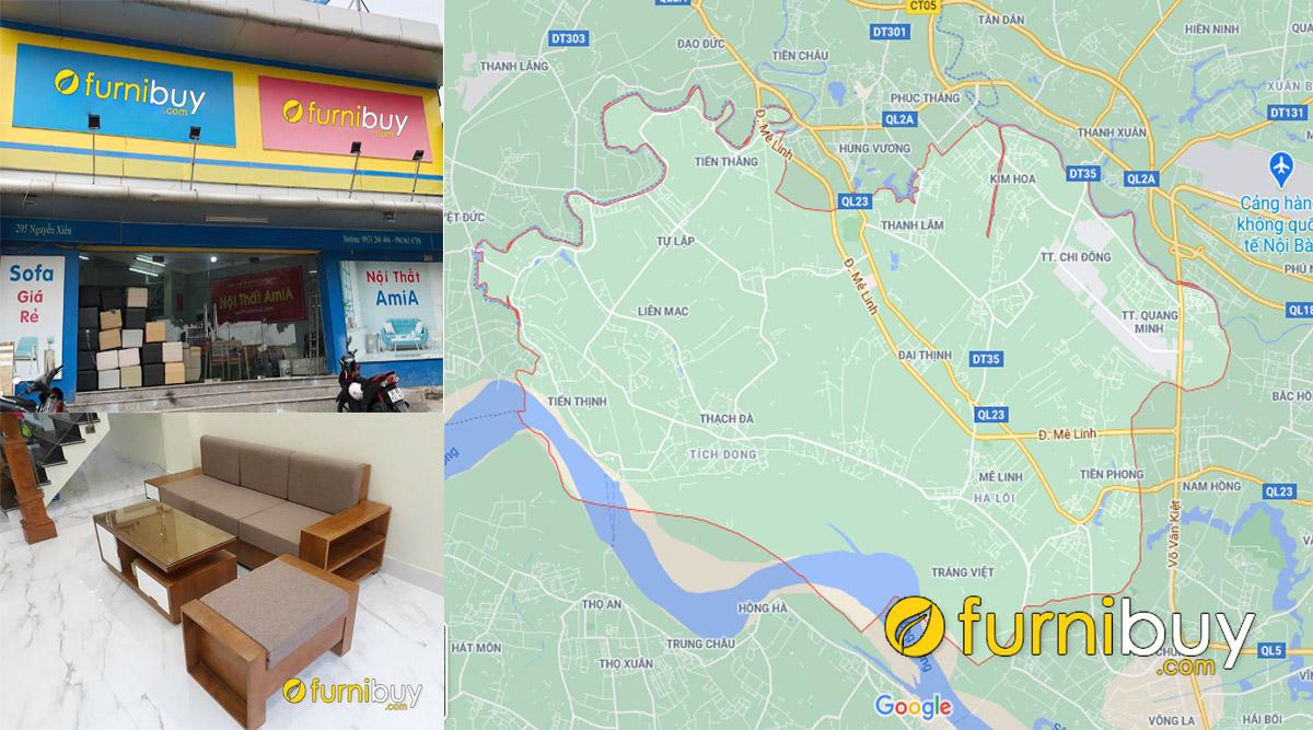 địa chỉ bán sofa gỗ giá rẻ tại huyện Mê Linh