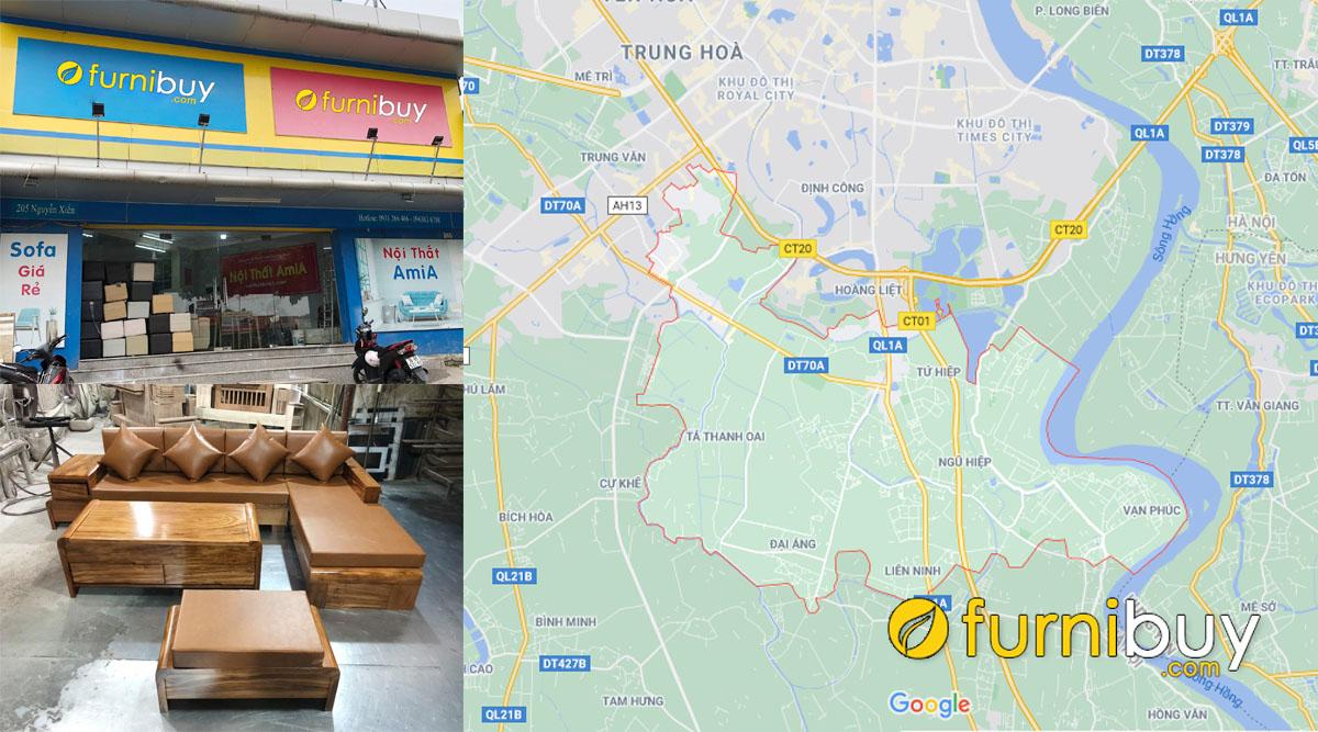 địa chỉ bán sofa gỗ giá rẻ tại huyện thanh trì hà nội