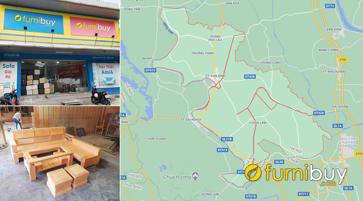 địa chỉ cửa hàng bán sofa gỗ đẹp giá rẻ tại Ứng Hoà