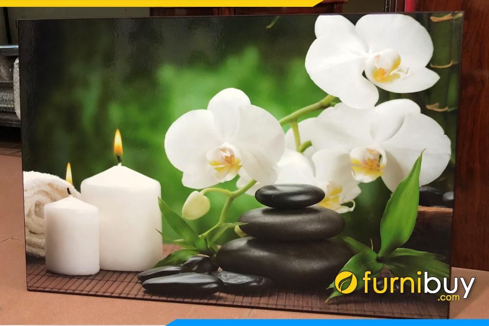 Tranh spa hoa phong lan va nen treo tuong dep