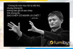 Tranh doanh nhan Jack Ma cau noi noi tieng