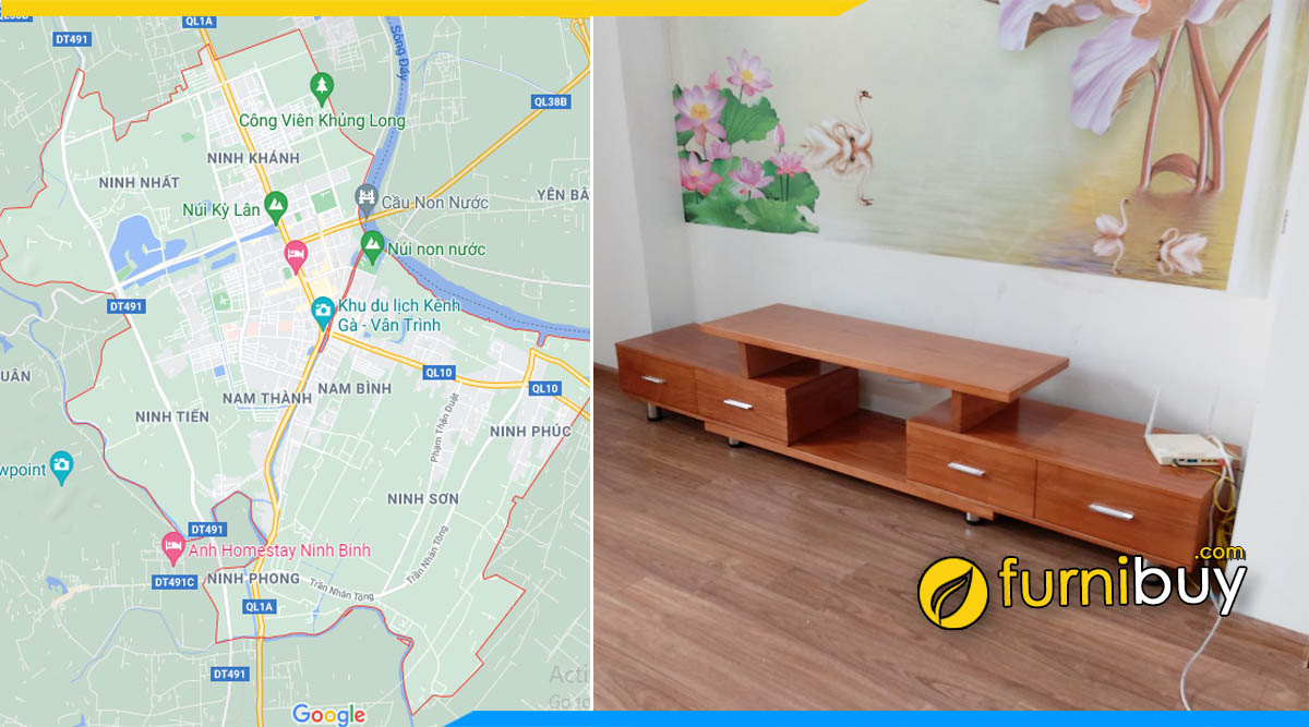 Furnibuy gợi ý nơi mua kệ tivi đẹp tại Ninh Bình
