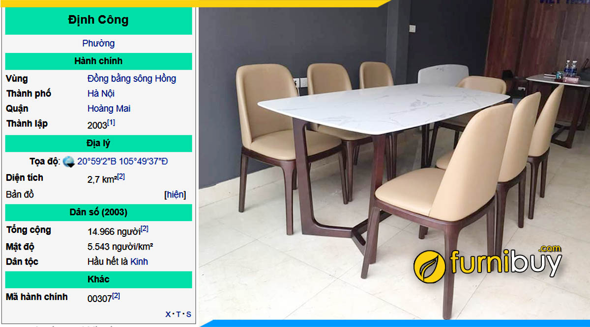 Mua bàn ghế ăn giá rẻ Định Công