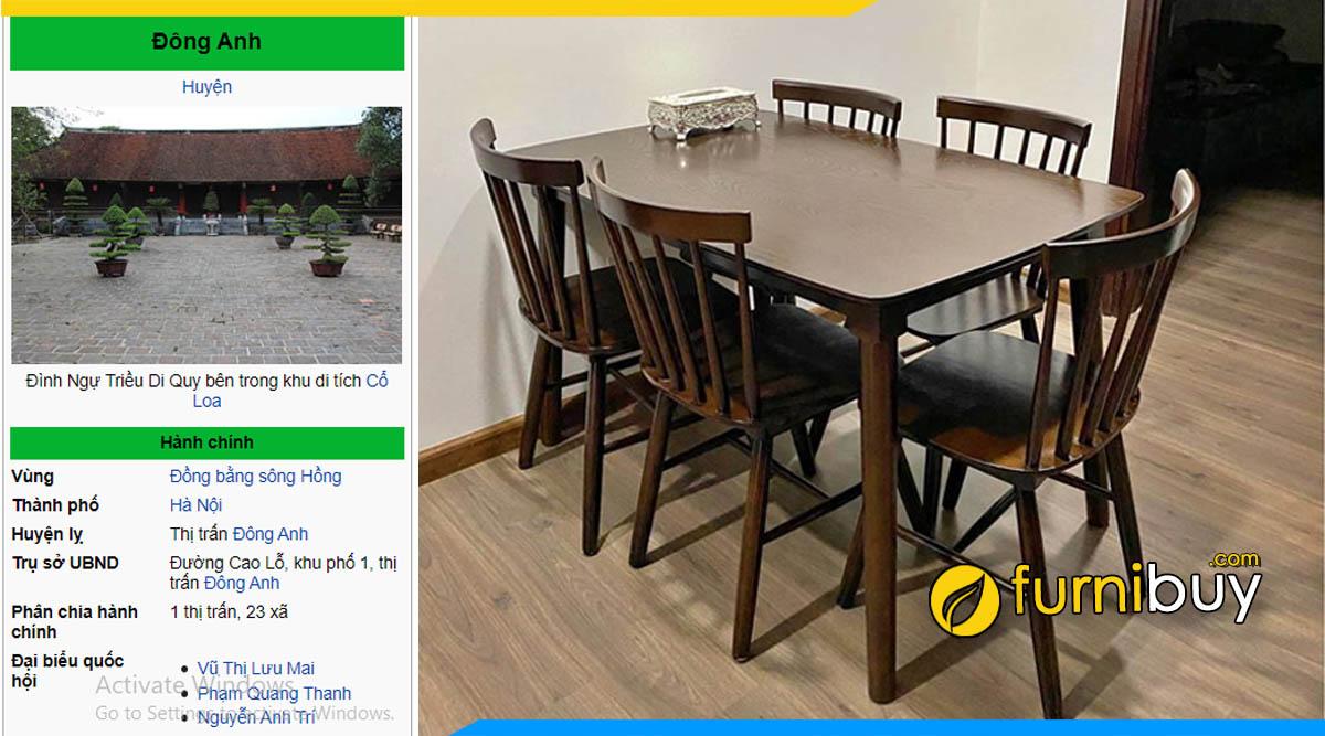 Mua bàn ghế ăn giá rẻ Đông Anh