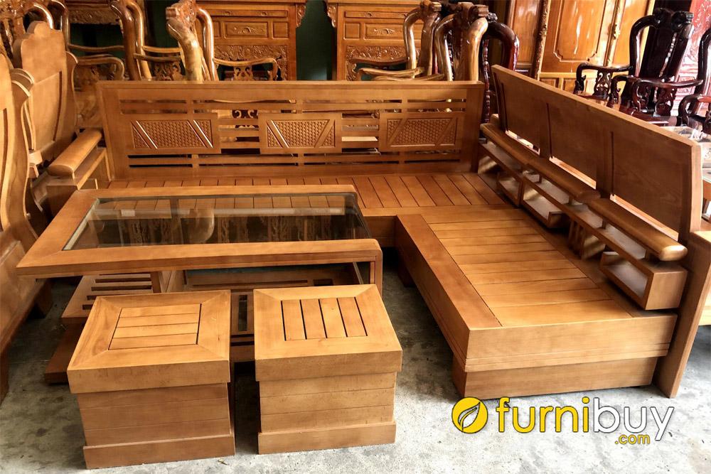 mua sofa gỗ bích đẹp giá rẻ tại xưởng sản xuất