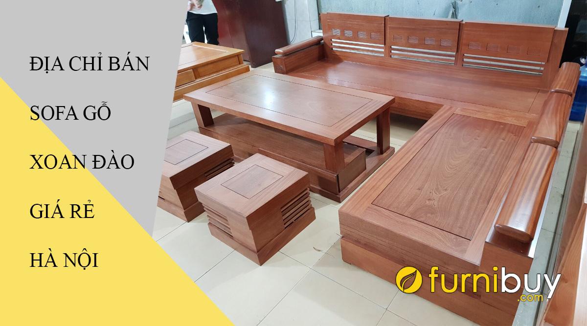mua sofa gỗ xoan đào giá rẻ ở đâu Hà Nội