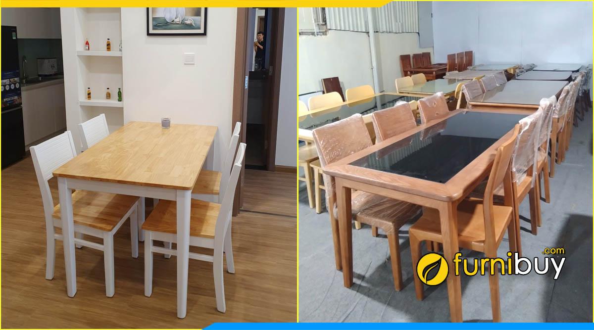 Nơi mua bàn ghế ăn giá rẻ Cầu Diễn uy tín Furnibuy
