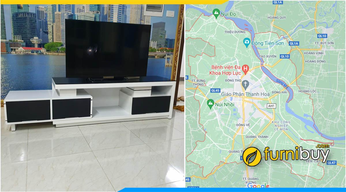 Nơi mua kệ tivi gỗ tại Thanh Hóa đẹp giá rẻ Furnibuy