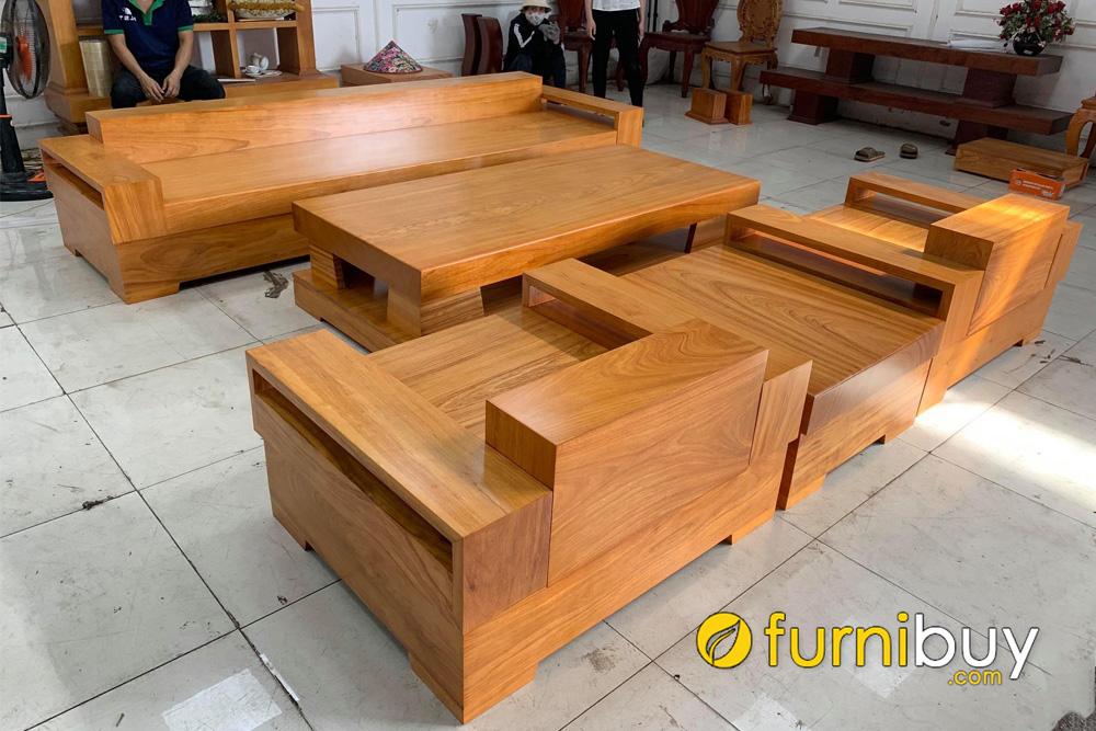 salon gỗ hộp nguyên khối gỗ hương đẹp
