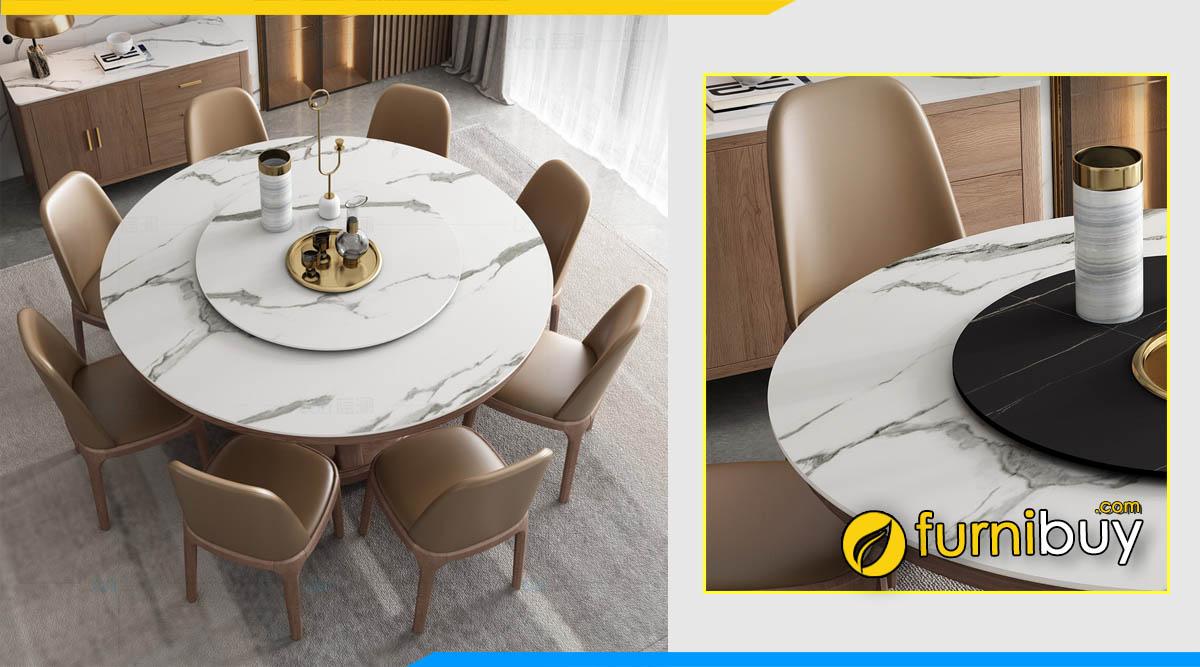 Ưu điểm bộ bàn ăn tròn 8 ghế tư vấn bởi furnibuy