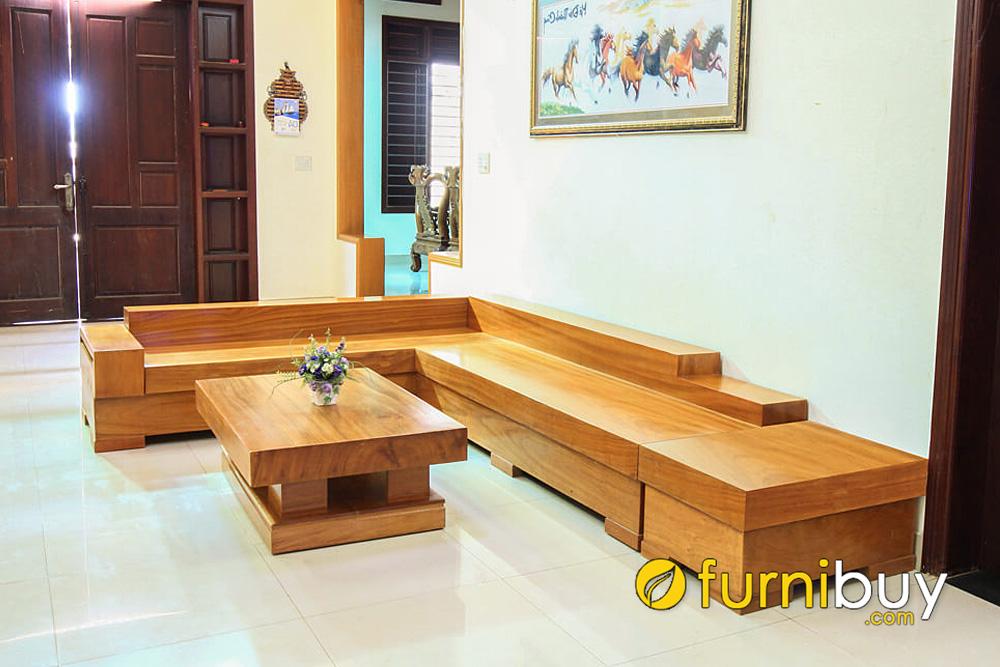 ưu điểm của sofa gỗ hộp tự nhiên là gì