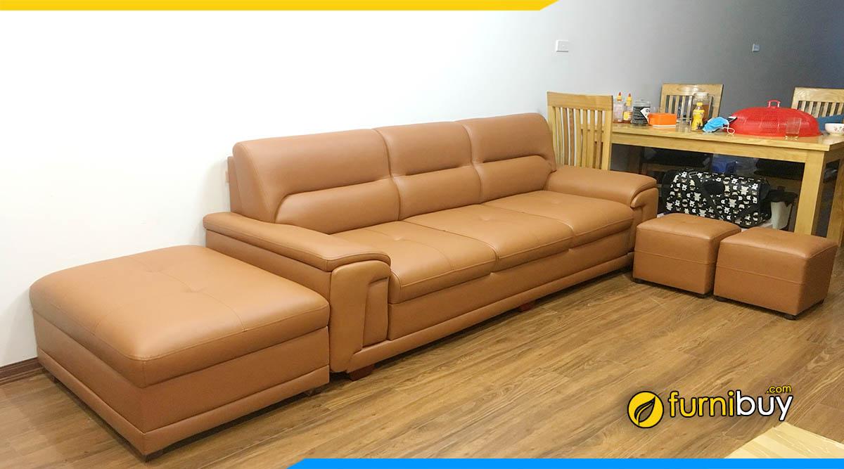 Xưởng đóng ghế sofa da theo yêu cầu Hoàng Mai Furnibuy