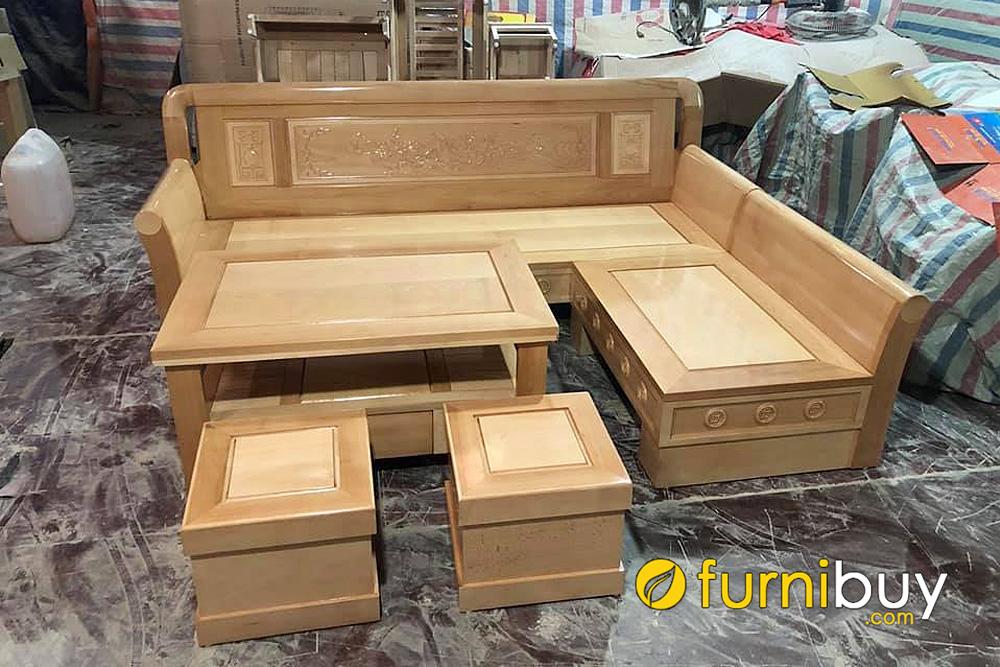 xưởng đóng sofa gỗ bích giá rẻ tại hà nội