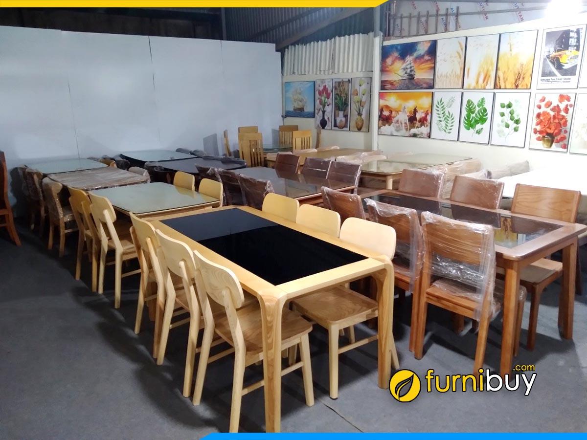 ảnh Xưởng nội thất đóng bàn ghế ăn giá rẻ Hà Nội furnibuy