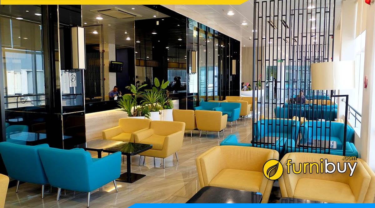 hình ảnh bộ bàn ghế sofa phòng chờ đẹp tại sân bay