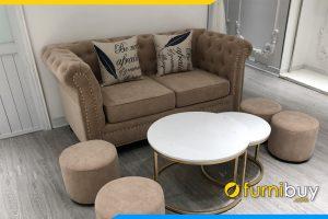 Hình ảnh Bộ bàn ghế sofa trưởng phòng thiết kế dạng tân cổ điển sang trọng