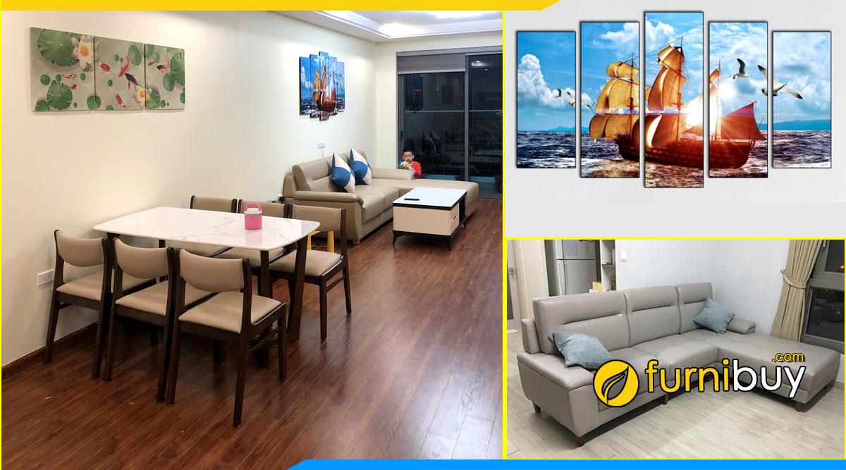 Furnibuy thi công thực tế nội thất chung cư đẹp nhà chị loan