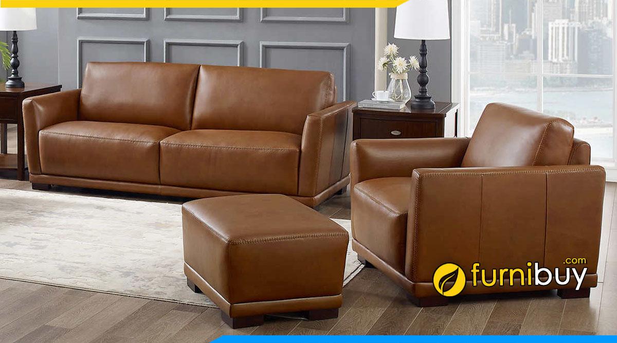 Hình ảnh Mẫu ghế sofa văn phòng tư vấn đất đai dạng văng kết hợp ghế đơn đẹp