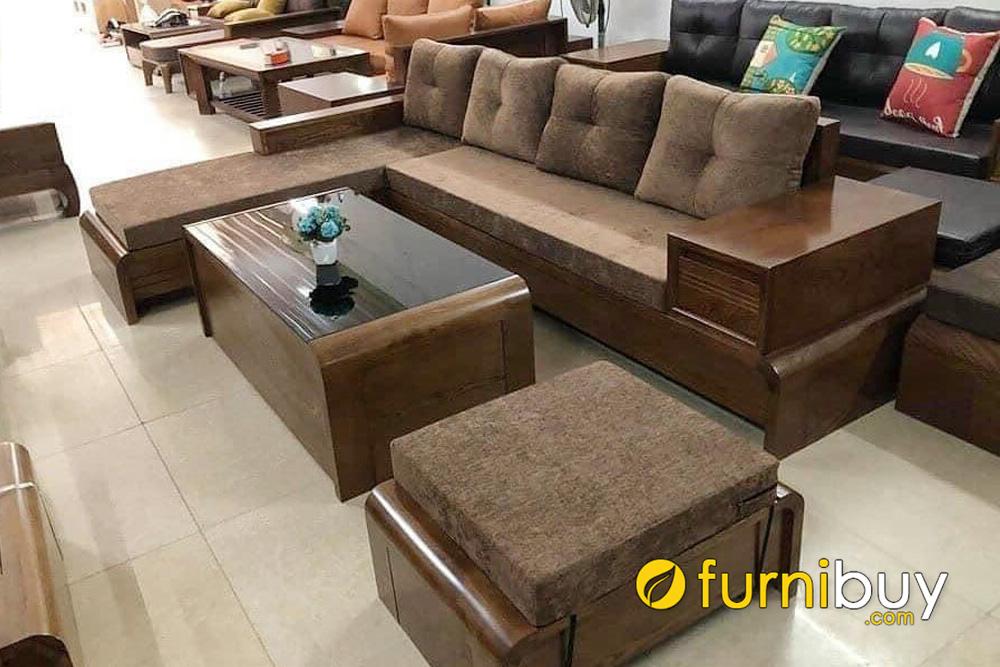 giá bán ghế sofa gỗ sồi bao nhiêu tiền một bộ