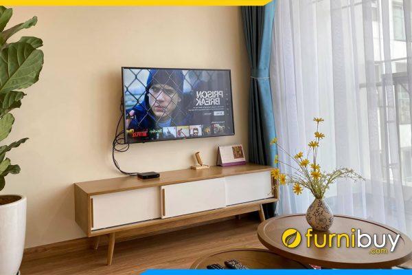 Mẫu kệ tivi gỗ công nghiệp hiện đại FBK019 phòng khách