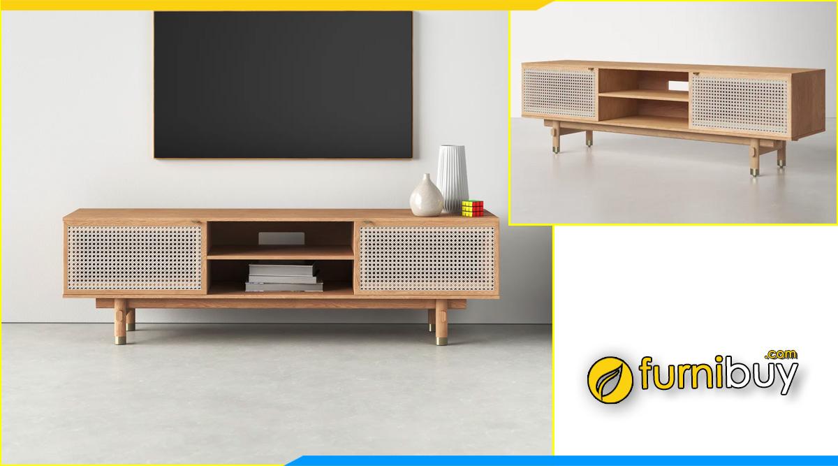 mẫu kệ tivi kiểu hiện đại gỗ sồi vân vàng đẹp