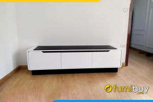 hình ảnh Mẫu kệ tivi phòng khách gỗ mdf đen trắng giá rẻ FBK016