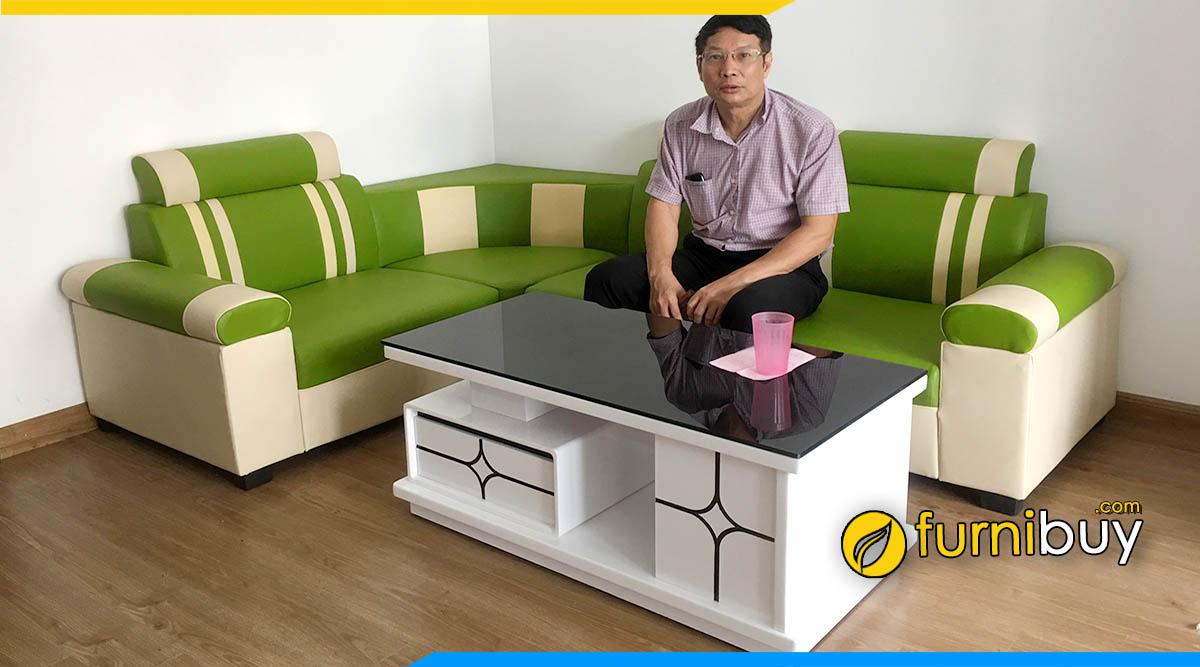 hình ảnh Mẫu ghế sofa văn phòng giá rẻ dưới 3 triệu tại Furnibuy Hà Nội