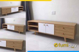 hình ảnh Mẫu kệ tivi gỗ công nghiệp 2 tầng nhỏ gọn FBK015